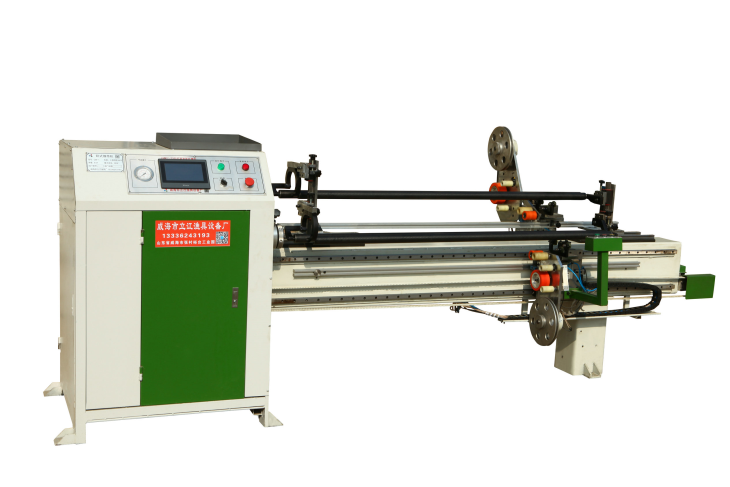 Carbon tube double shaft horizontal winding machine